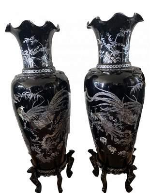 Mother of Pearl Oriental Vases