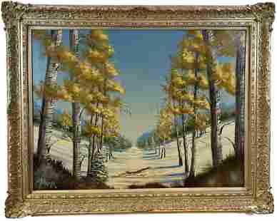 1977 - Winter Oil Painting by Dirk Schneider
