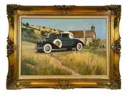 1940 Cadillac V-16 - Tom Darrah 1980 Oil Painting