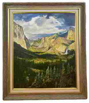 Yosemite By Maurice Green Oil Painting