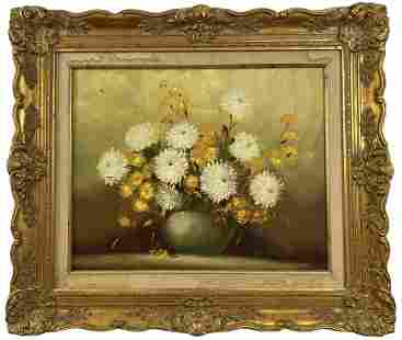 Flowers Oil Painting on Canvas -Signed