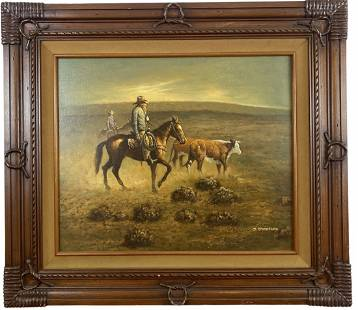 Western Oil Painting by J. Stanford