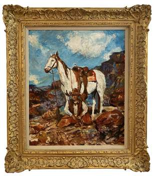 Western Oil Painting on Canvas