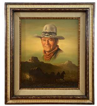 John Wayne Oil Painting on Canvas by Peter Shinn