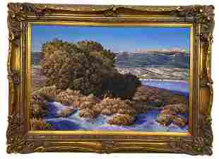 Landscape by Hector Morales Oil Painting on Canvas