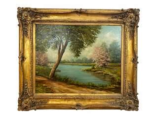 Landscape by Marta Palaski Oil Painting on Canvas