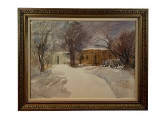 Winter Wind - Watercolor on Canvas by Garoutte ASAI