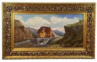 Santa Fe Train by Maurice Green 1987