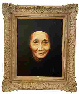 Grandmother of Lee Chang Portrait by W. H. Hayes - 1981