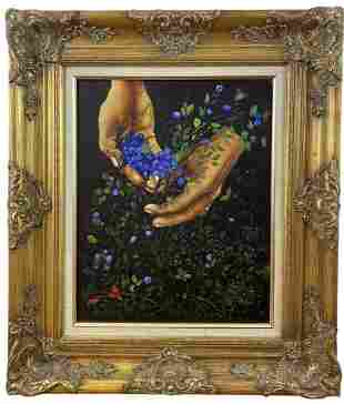 Blueberry Harvest- A. O. Smith - Oil on Canvas