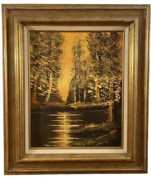 Autumn Oil Painting on Canvas