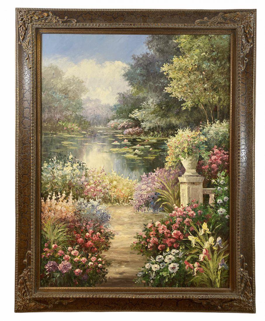 Large Oil Landscape Painting on Canvas