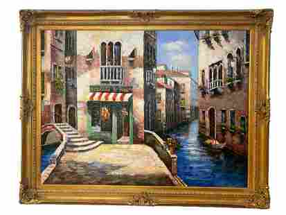 Venice Scene Oil on Canvas Painting