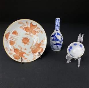 Lot of 3 Antique Porcelain items