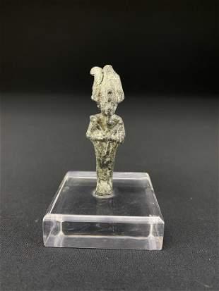 Ancient Egyptian Bronze Figure of Osiris Wearing Atef