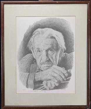 Al Kennedy lithograph portrait of Thomas Hart Benton