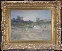 Charles Paul Gruppe landscape framed oil on board