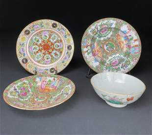 A Collection of four Chinese porcelains
