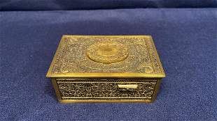 ANTIQUE BRONZE AUTOMATON BOX WITH MECHANICAL TOP