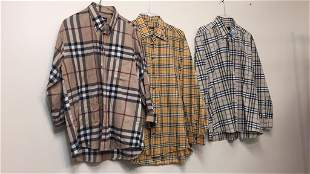 3 PC MENS BURBERRY SHIRTS - ALL SIZE LARGE