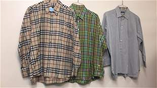 3PC MENS BURBERRY SHIRTS - ALL SIZE LARGE