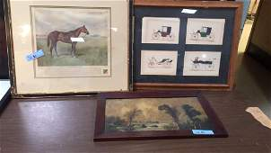 3 PIECES OF FRAMED WALL ART