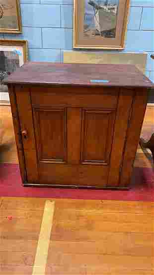 SMALL ANTIQUE PINE 1 DRAWER CUPBOARD