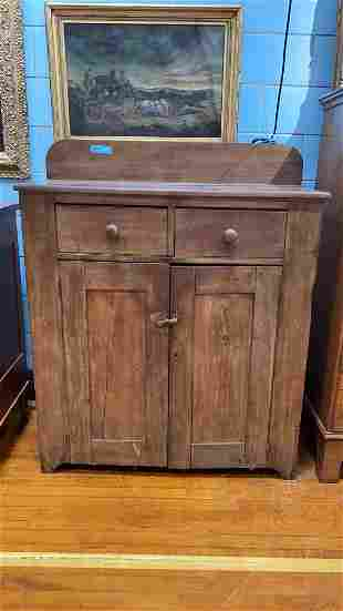 ANTIQUE SOFTWOOD DOVETAILED JELLY CUPBOARD