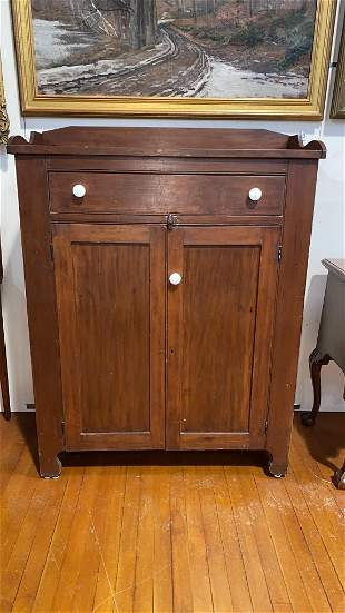 ANTIQUE SOFTWOOD JELLY CUPBOARD