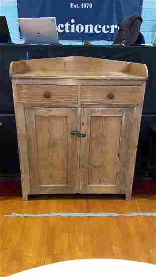 ANTIQUE CHESTNUT JELLY CUPBOARD