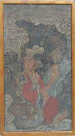 17th - 18th Century Chinese Tibetan Tiger and Devotee