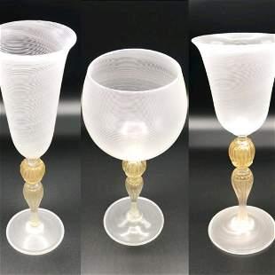 95 piece Murano glass stemware set
