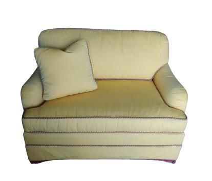 Custom loveseat with pullout bed