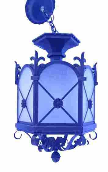 Large ornate hexagonal hanging lantern