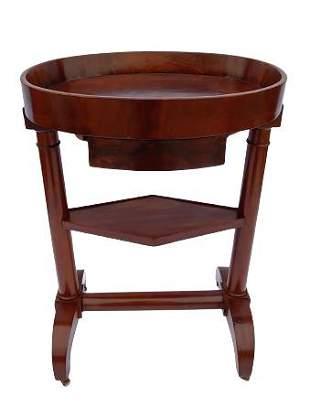 Biedermeier style mahogany side table
