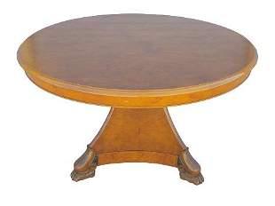 French Empire style mahogany center table (19th c)