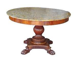 Charles X Mahogany Center Table (19th c)