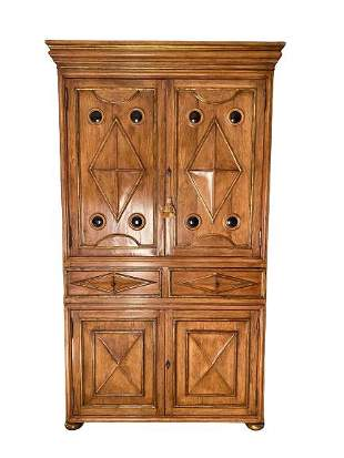 A walnut and parcel-gilt cabinet in Louis XIII style