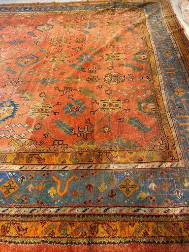Antique Oversized Oushak Rug