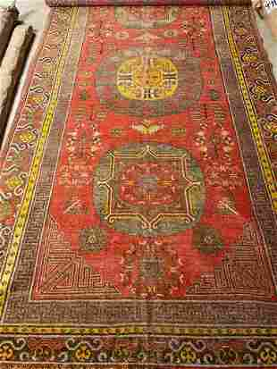 Tibetan rug, antique Khotan