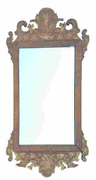Georgian style stenciled tablet mirror (20th c)