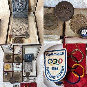 Olympic figure skater 1936 Nazi Germany memorabilia lot