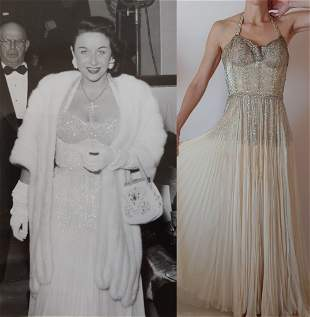 Couture gown worn by 40s actress Vera Ralston w/ pics!