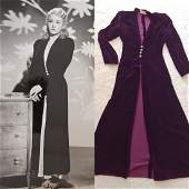 Couture robe worn by 40s actress Vera Ralston w/ pics!