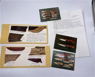 Raaen Custom Carbon Steel Wood Knife Lot