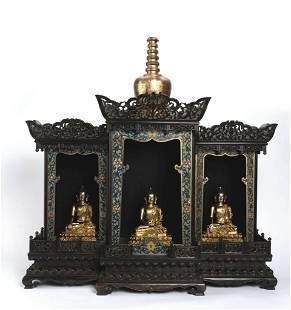 Gilt Bronze Buddhas of Three Periods and Buddha Niches