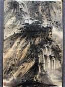 A Chinese Landscape Hanging Scroll Painting, Fu Baoshi