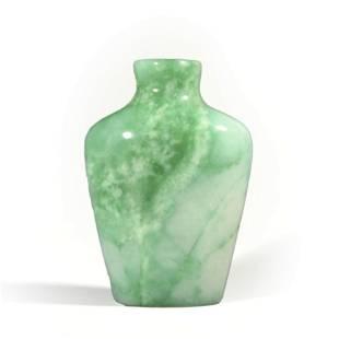 A Carved Jadeite Snuff Bottle