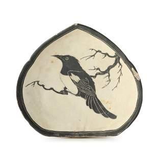 A Cizhou Kiln Bird Pillow