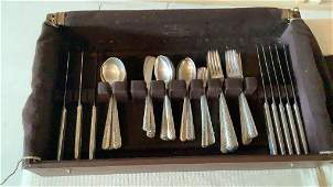 Towle Rambler Rose Sterling Flatware, 70+ Pieces